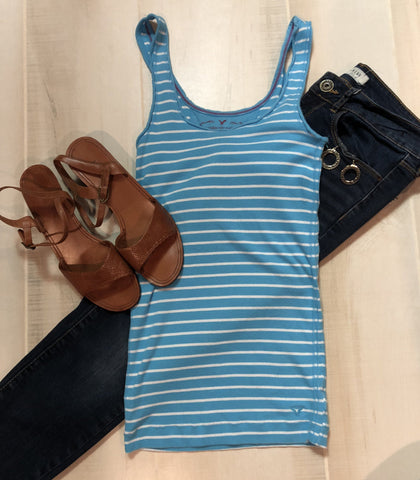 American Eagle Striped Tank
