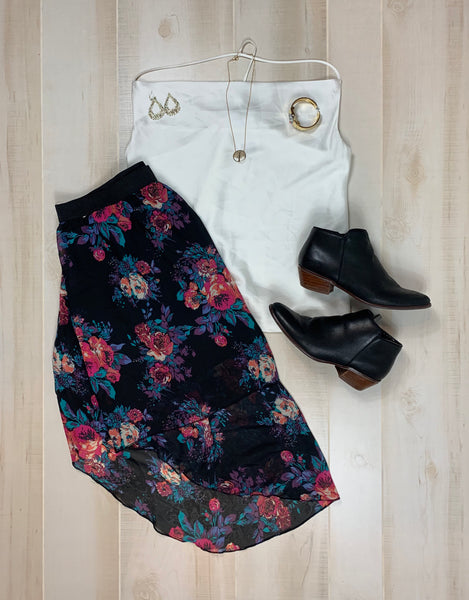 Charlotte Russe High-Low Skirt