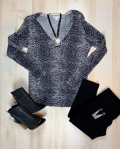 New York & Co Leopard Print Sweater