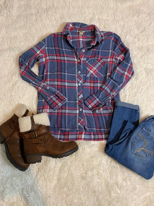 Woolrich Plaid Button Down Top