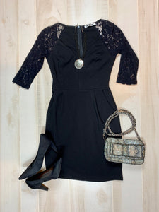 Mystic Lace Sleeve Dress