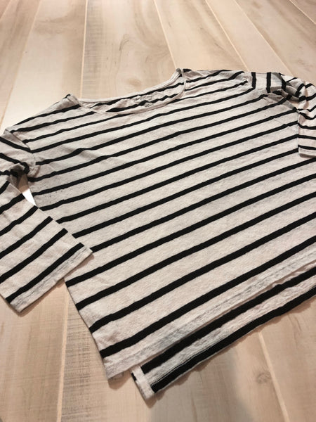 American Eagle Outfitters Striped 3/4 Sleeve Top