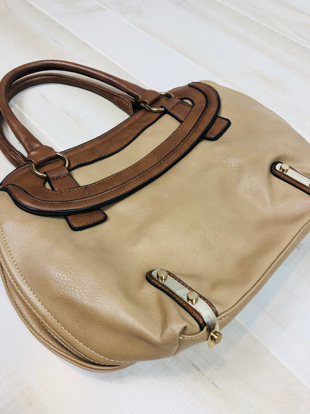Two-time Handbag w/Gold-tone Hardware