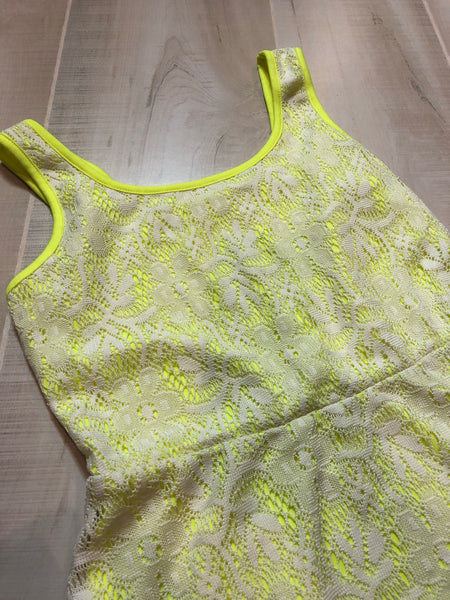 Bobbie Brooke Neon and Lace Dress