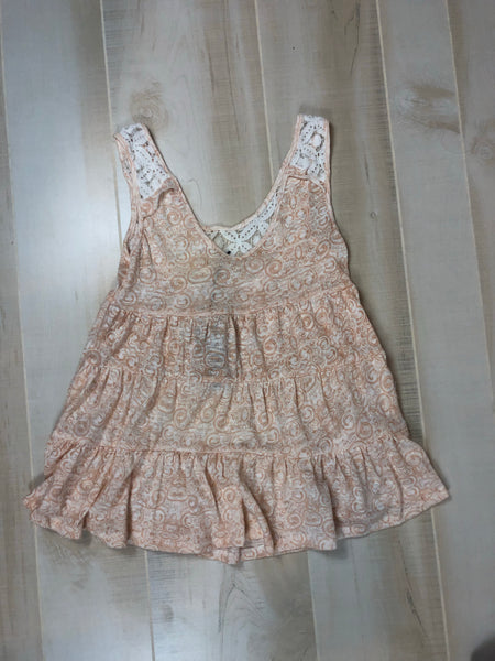 Poof Pattern & Lace Tank