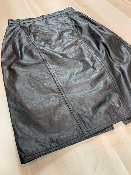 Winlit Leather Skirt