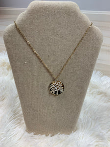 Family Tree Medallion Necklace
