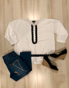 The Limited Blouse with Fringe Detail