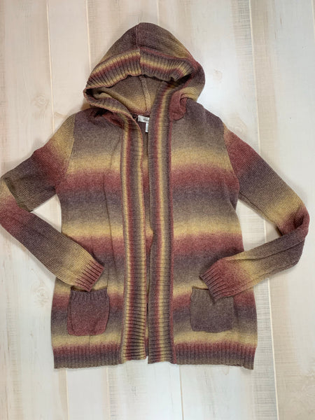 Dress Barn Hooded Open Cardigan