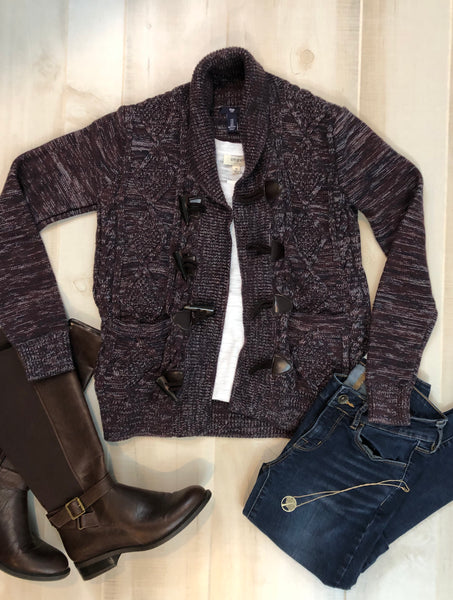 GAP Toggle Closure Sweater Cardigan