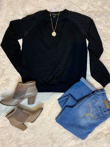 Forever 21 Lace Shoulder Sweater