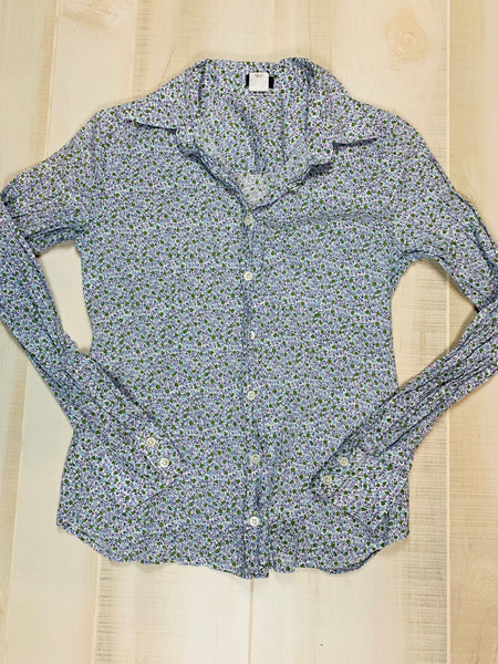 J. Crew Floral Button Down Blouse