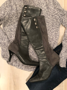 Predictions Faux Leather & Suede Boots: Size 7