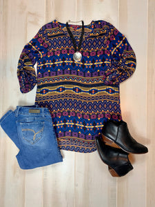 Sievergate Tribal Pattern Blouse