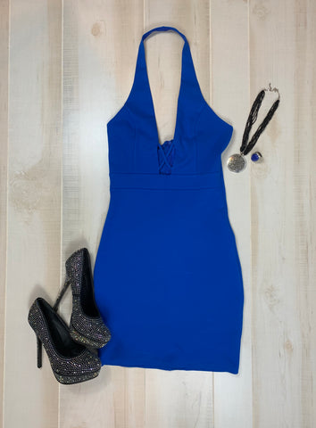 Windsor Criss-cross Halter Dress
