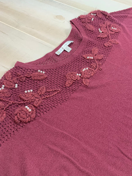 Lauren Conrad Beaded Sweater