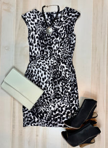 Calvin Klein Animal Pattern Dress
