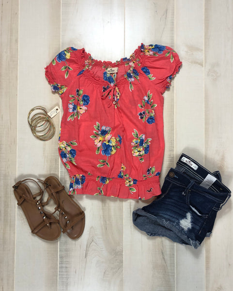 Hollister Floral Top