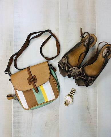Tignanello Striped Crossbody Bag