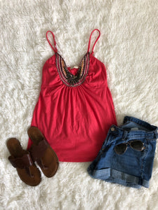 Derek Heart Beaded Tank