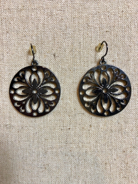 Round Medallion Cut-out Earrings
