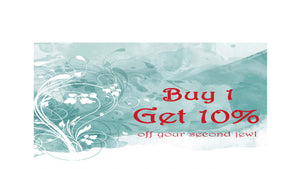buy 1 get 10% off sale promotion special offer