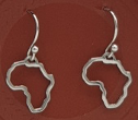 Sterling Silver Africa Necklace and Earrings