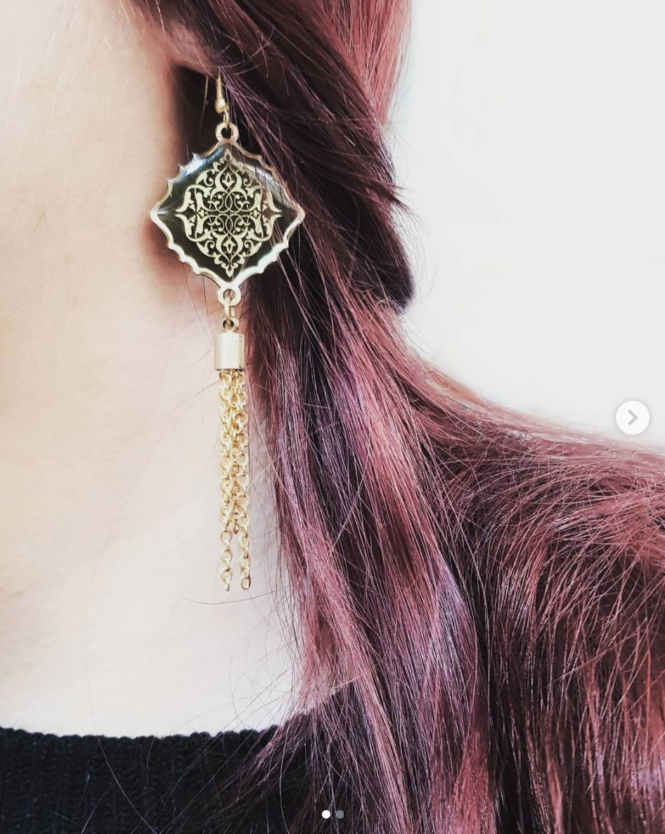 Black and Gold Ottoman Earrings
