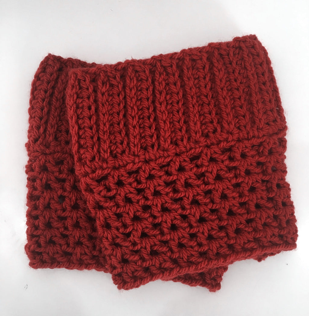 Hand-knitted Boot Cuffs In Amber
