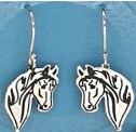 Sterling Silver horse head Necklace and Earrings