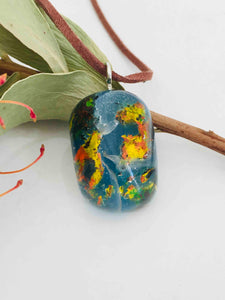 resin stunning necklace leather band unisex perfect gift galaxy