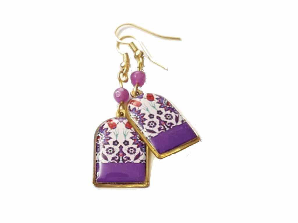 Purple Balouchi Earrings - JewlOn