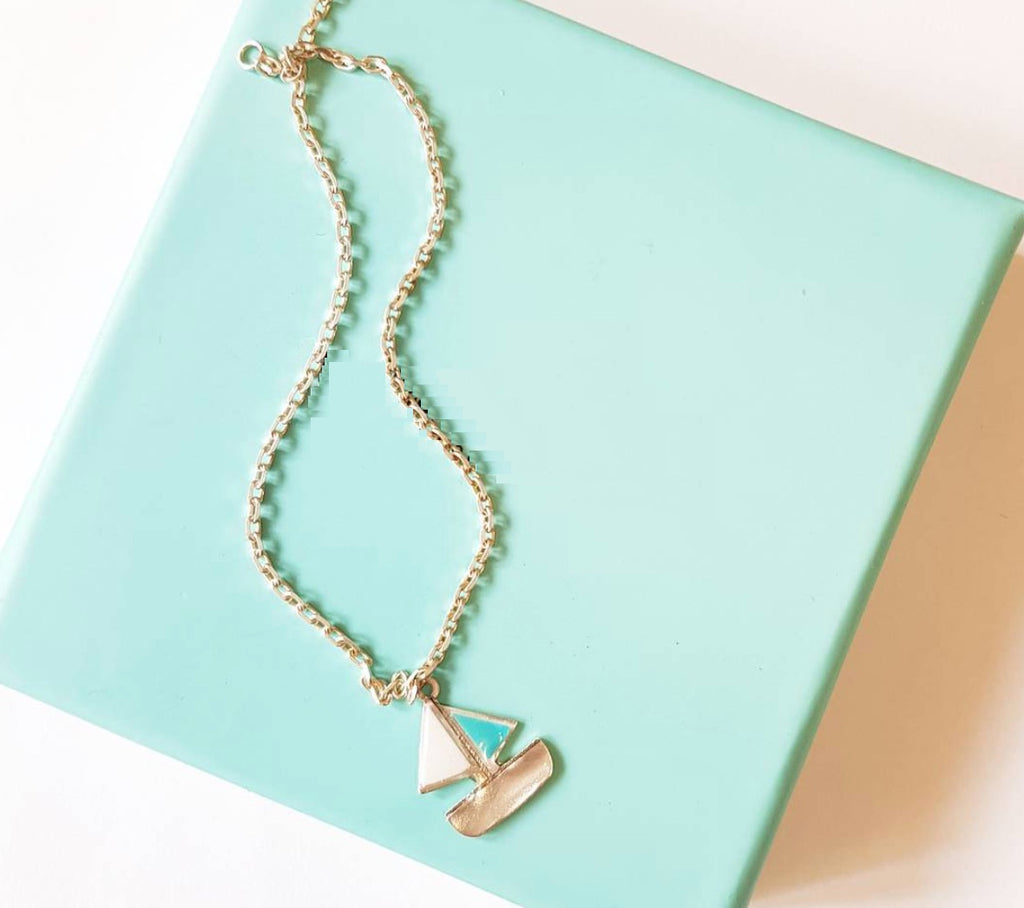 sterling Silver Boat Foot Chain anklet