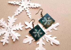 Snowflake Earrings and Bracelet half set - JewlOn
