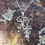 sterling silver africa tree of life african style african frame pendant necklace