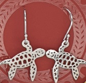 Sterling Silver turtle Necklace and Earrings