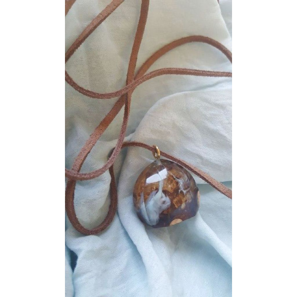 Arctic Dome resin epoxy Necklace