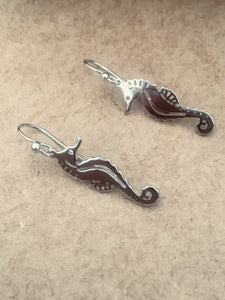 sterling silver seahorse african souvenir earrings cute trendy unique casual