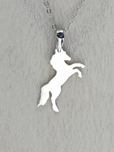 Sterling Silver Wild horse necklace