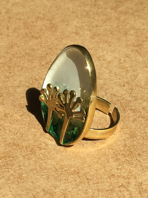 Dandelion statement Ring