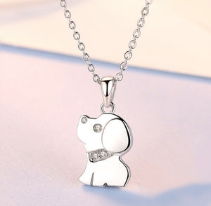 Sterling Silver Puppy Necklace
