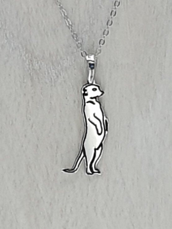 Sterling Silver Meerkat necklace