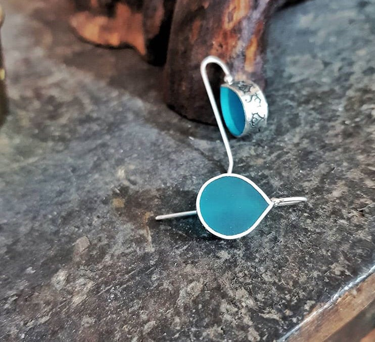 sterling silver abd blue dew drop