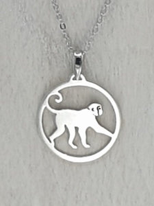 Cape Town baboons sterling silver