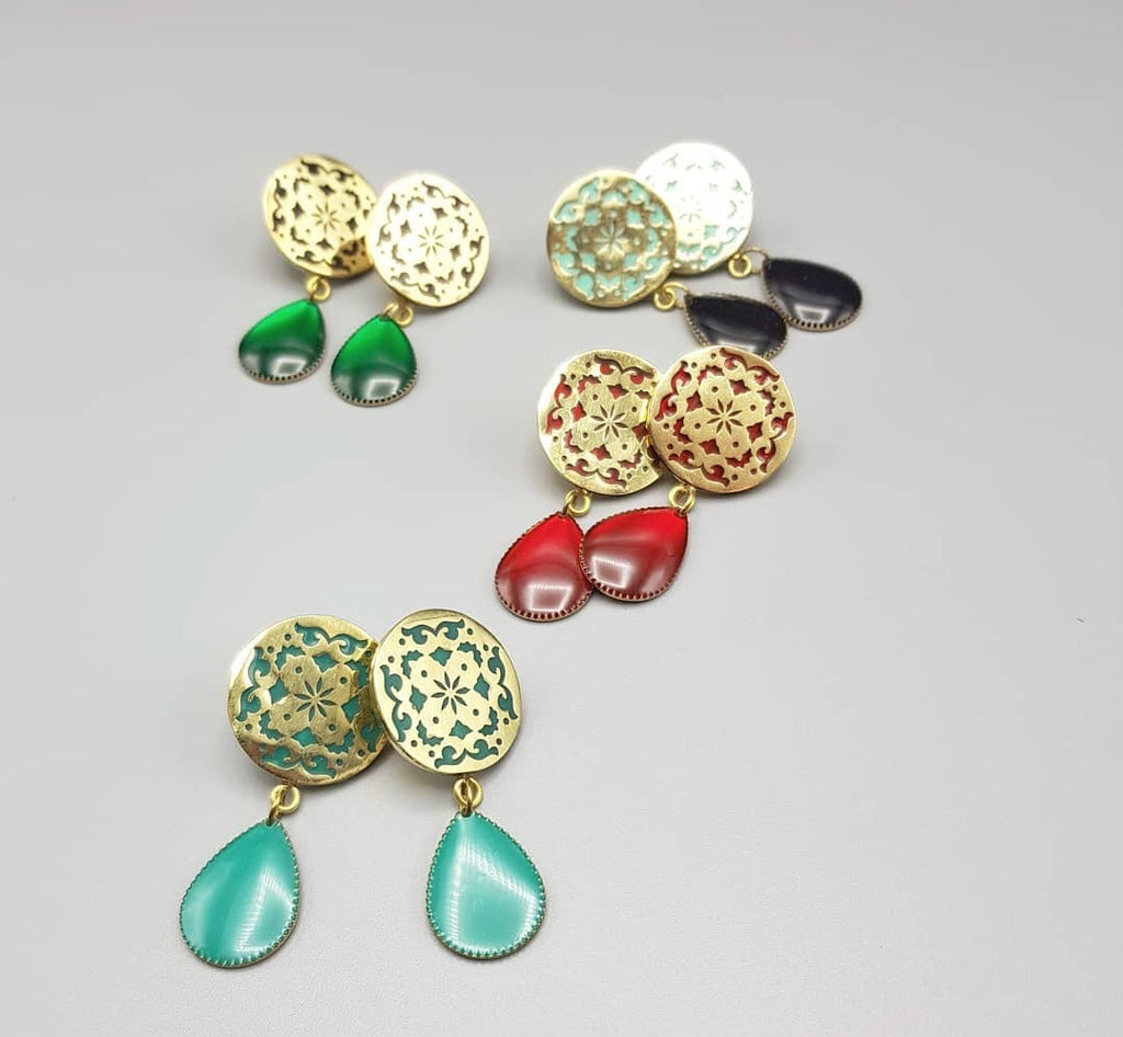 Sufi Round Earrings - JewlOn
