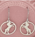 Sterling Silver Wild horse Necklace and Earrings