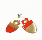 Red Acorn Earrings