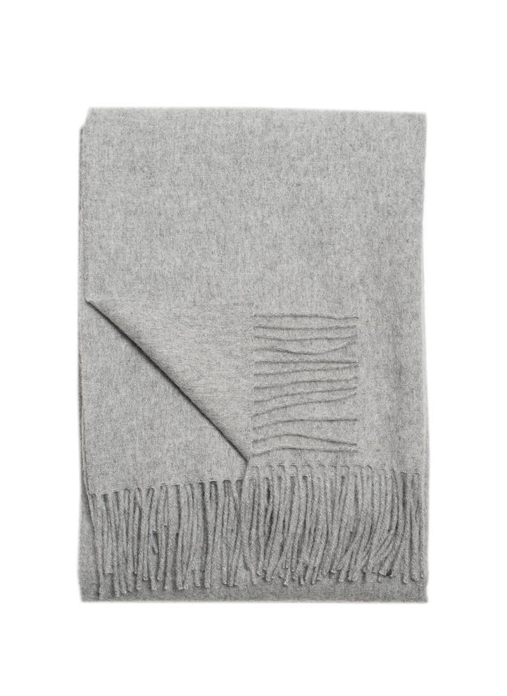 Alpaca Throw Light Grey