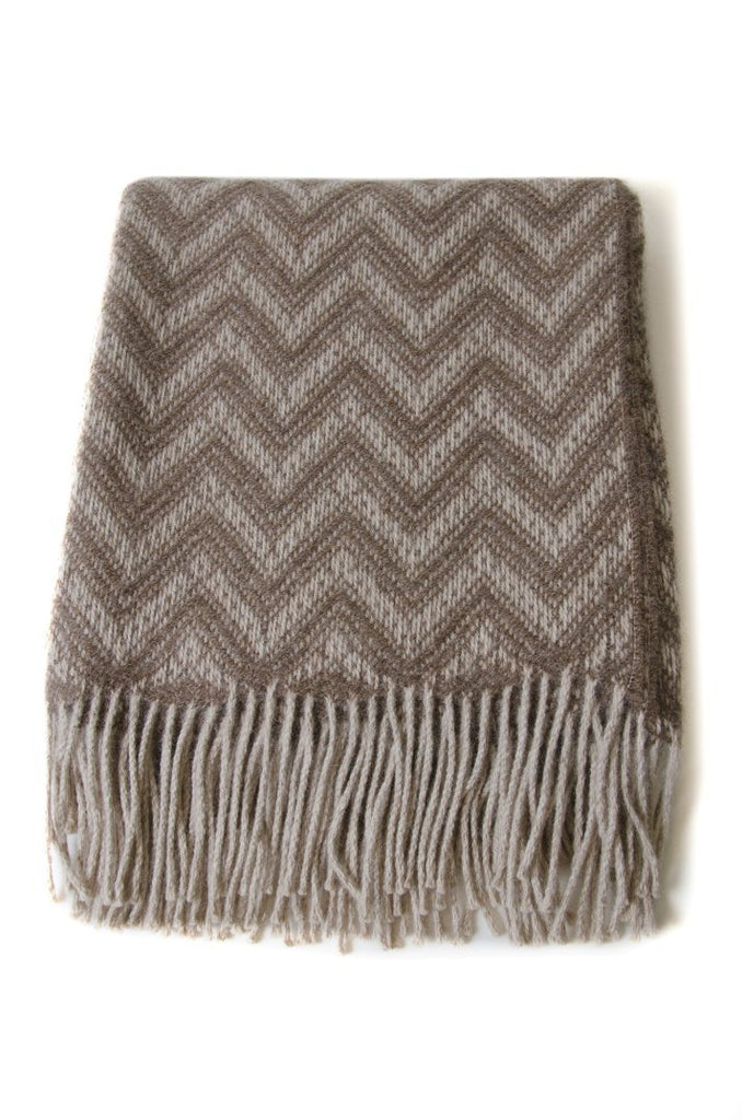 Alpaca Throw Wheat, Dusty Brown