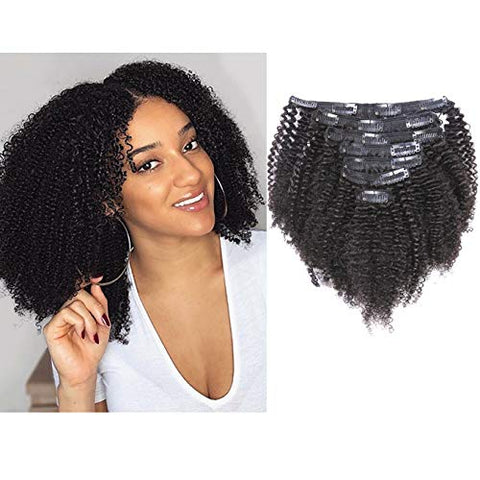 Brazilian Afro-Kinky Curly Clip-in Extensions | (4B-4C) |